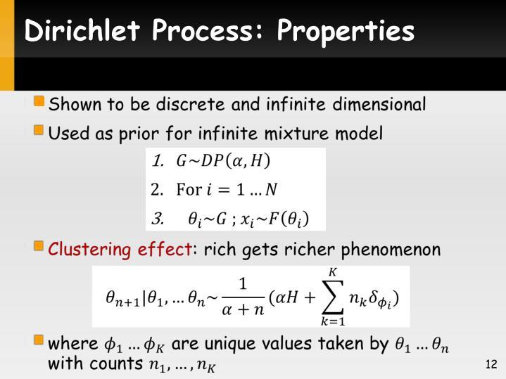 Dirichlet Process: Properties