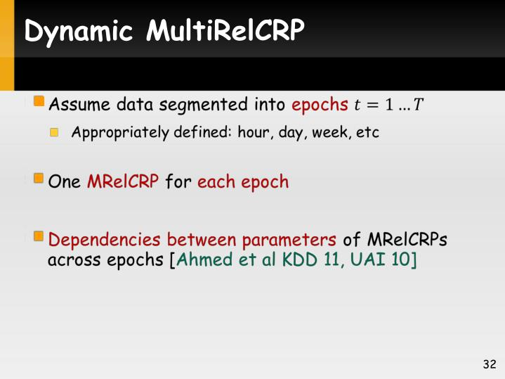 Dynamic MultiRelCRP