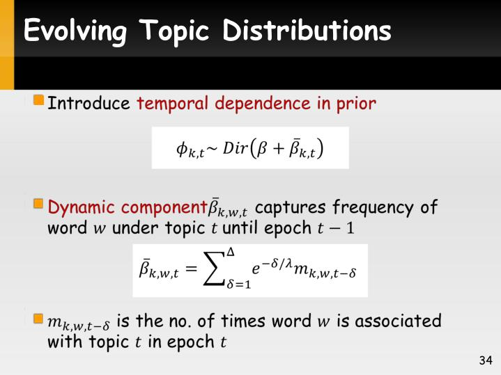 Evolving Topic Distributions