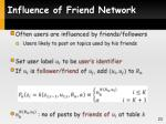 influence of friend network1