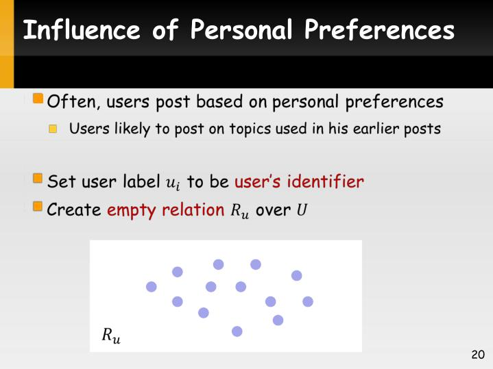 Influence of Personal Preferences