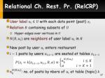 relational ch rest pr relcrp1