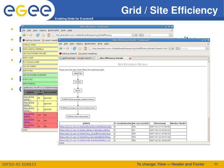 Grid / Site Efficiency