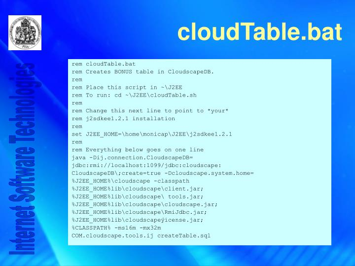 rem cloudTable.bat