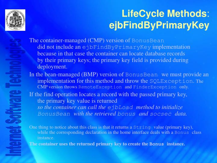 The container-managed (CMP) version of