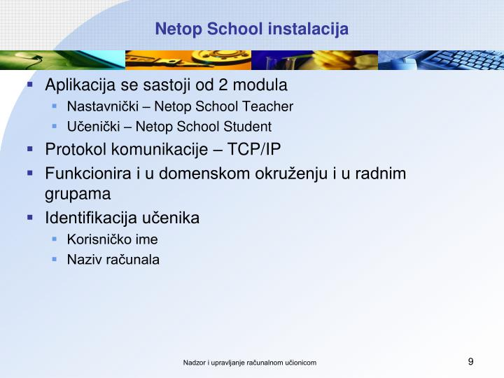 Netop School instalacija