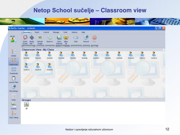 Netop School sučelje – Classroom view