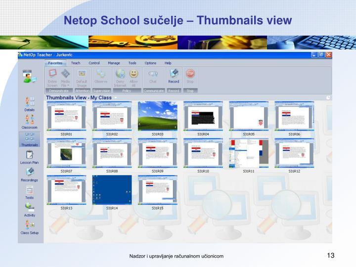 Netop School sučelje – Thumbnails view