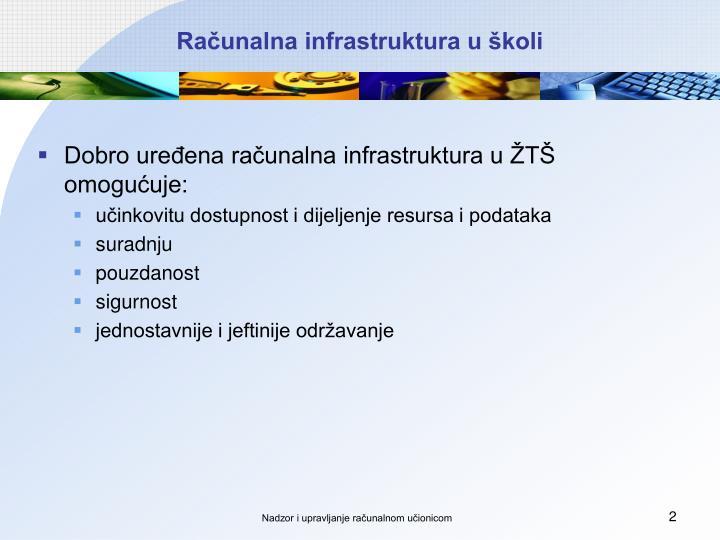 Računalna infrastruktura u školi