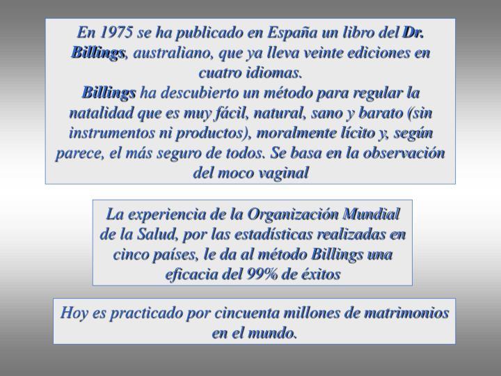 En 1975 se ha publicado en España un libro del