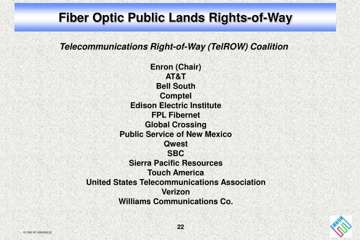 Fiber Optic Public Lands Rights-of-Way