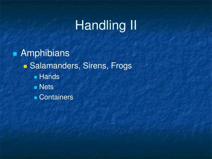 Handling II