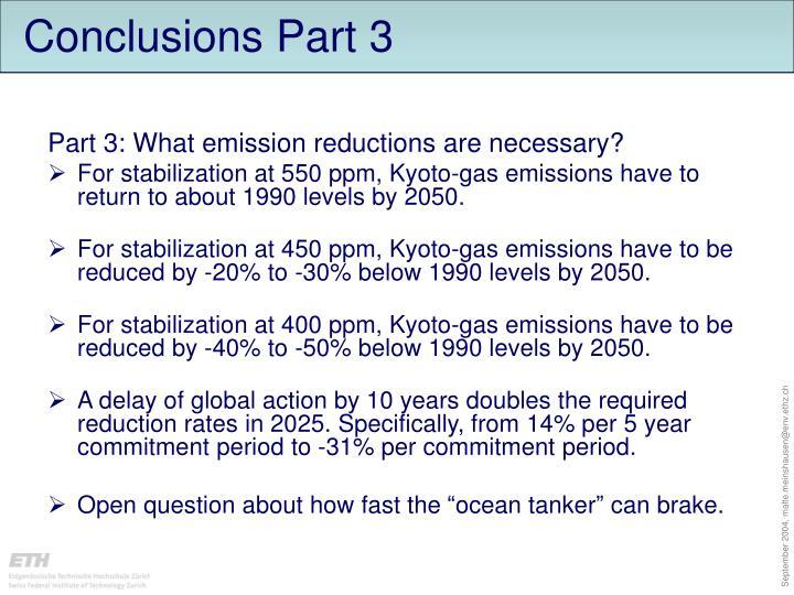 Conclusions Part 3