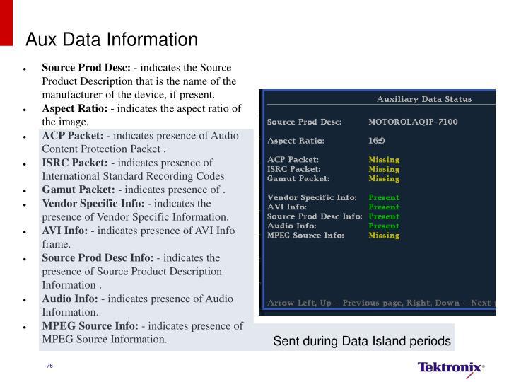 Aux Data Information
