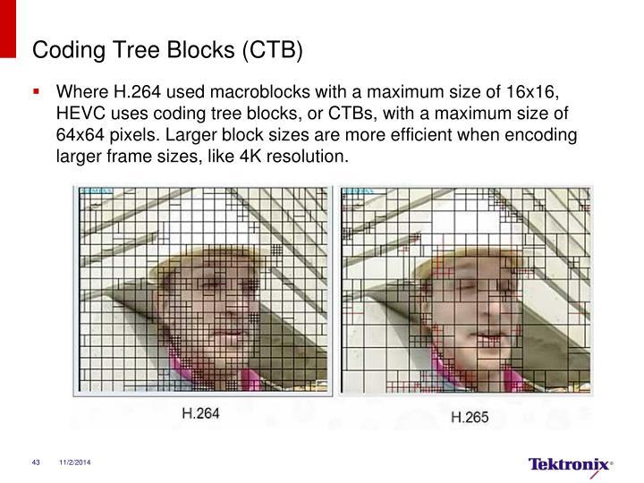 Coding Tree Blocks (CTB)