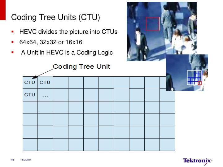 Coding Tree Units (CTU)