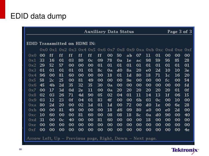 EDID data dump