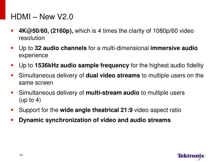HDMI – New V2.0