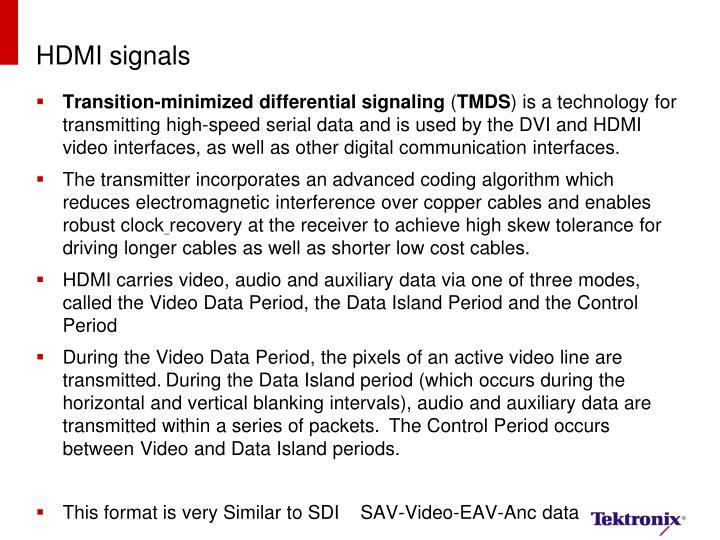 HDMI signals