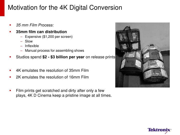 Motivation for the 4K Digital Conversion