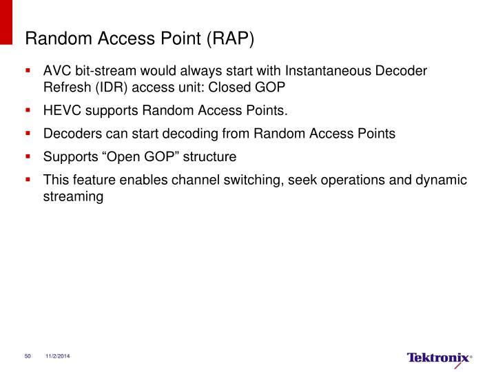 Random Access Point (RAP)