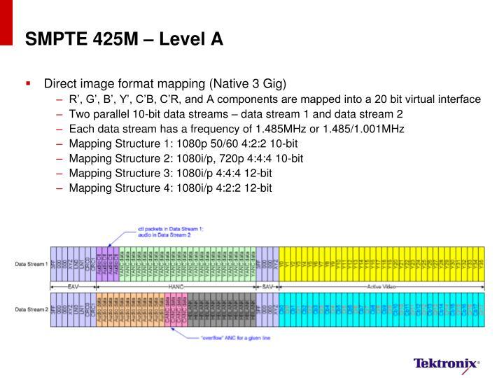 SMPTE 425M – Level A