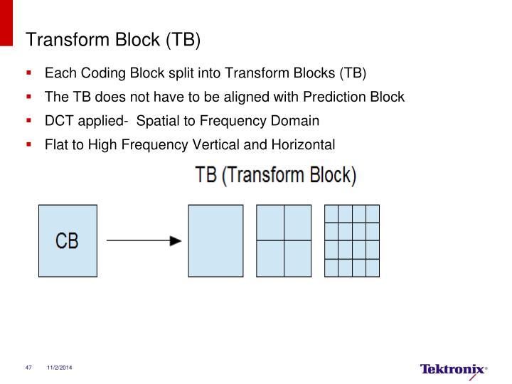 Transform Block (TB)