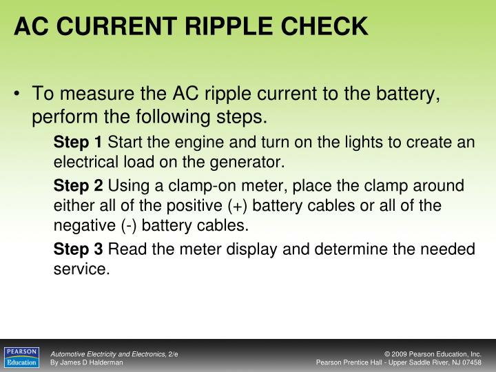 AC CURRENT RIPPLE CHECK
