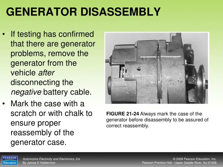 GENERATOR DISASSEMBLY