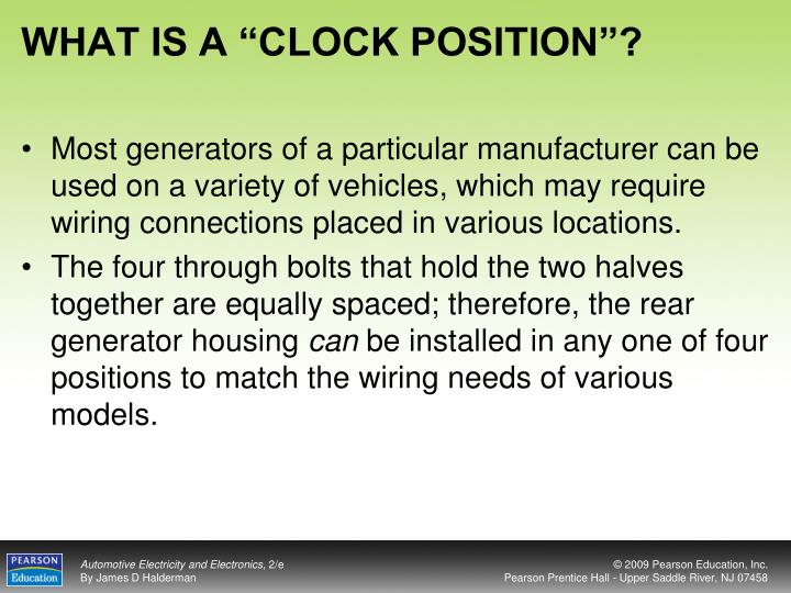 "WHAT IS A ""CLOCK POSITION""?"