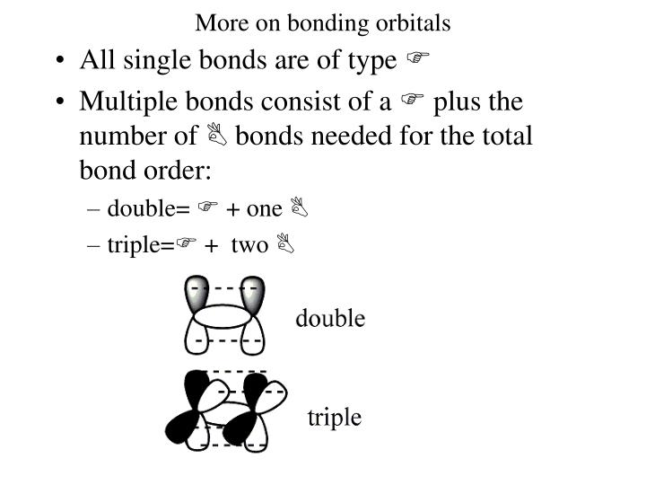 More on bonding orbitals
