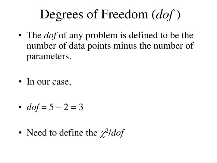 Degrees of Freedom (