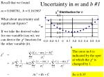 uncertainty in m and b 1