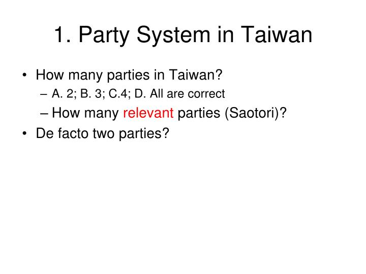 1. Party System in Taiwan
