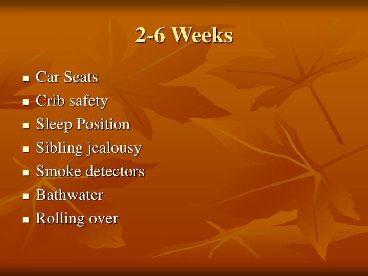 2-6 Weeks