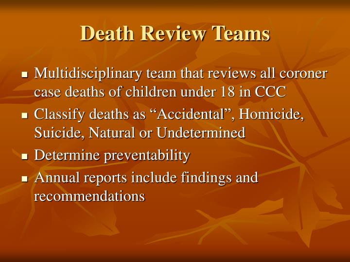 Death Review Teams