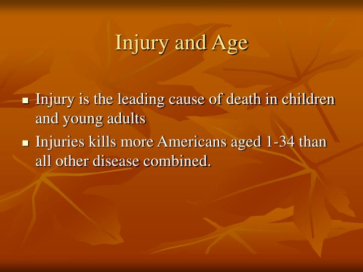 Injury and Age