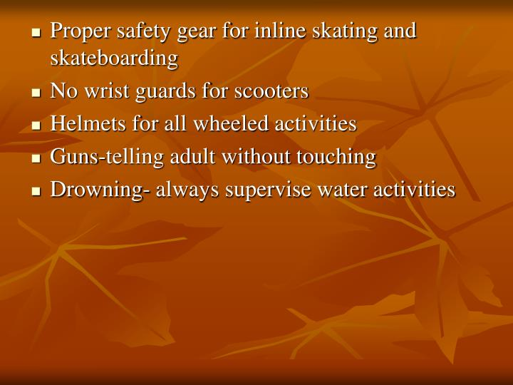 Proper safety gear for inline skating and skateboarding