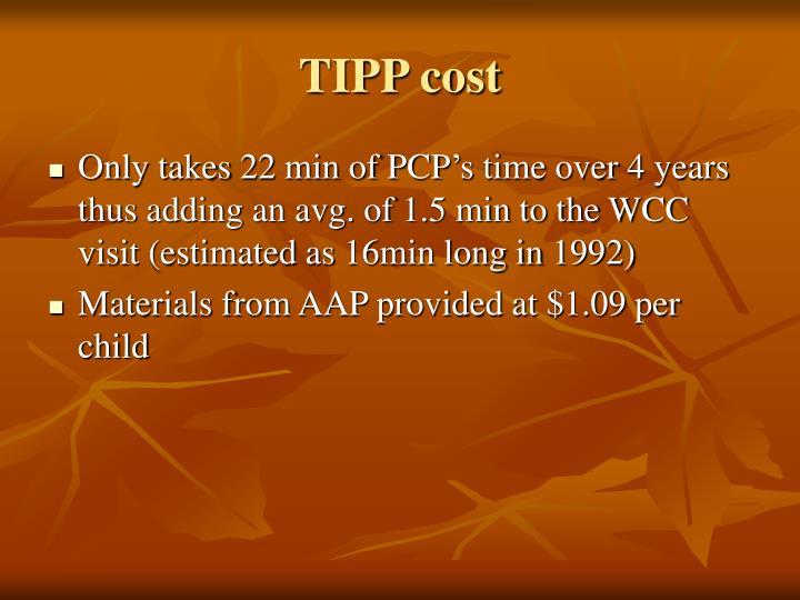TIPP cost