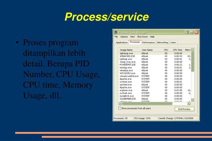 Process/service