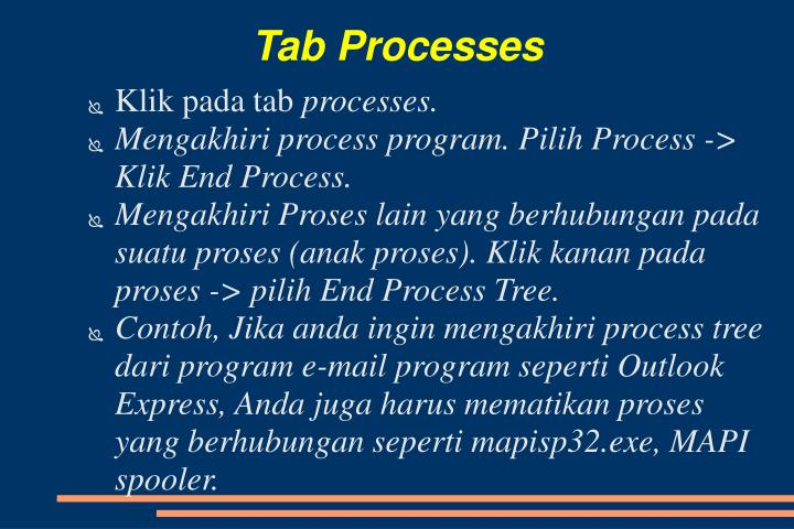 Tab Processes