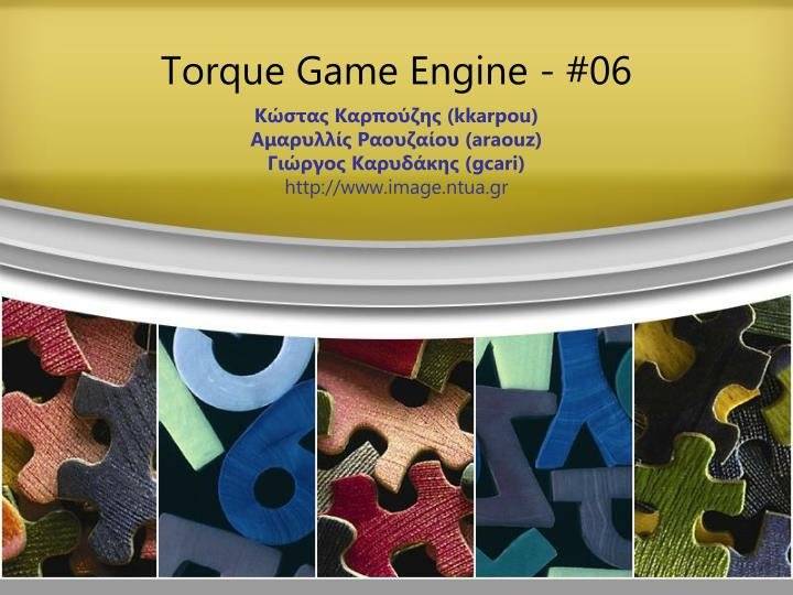 Torque game engine 0 6