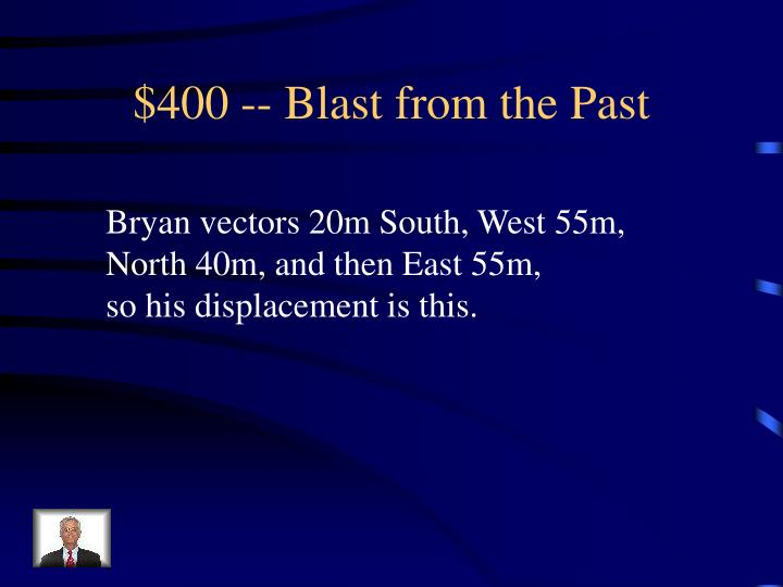 $400 -- Blast from the Past