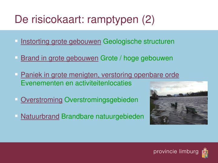 De risicokaart: ramptypen (2)