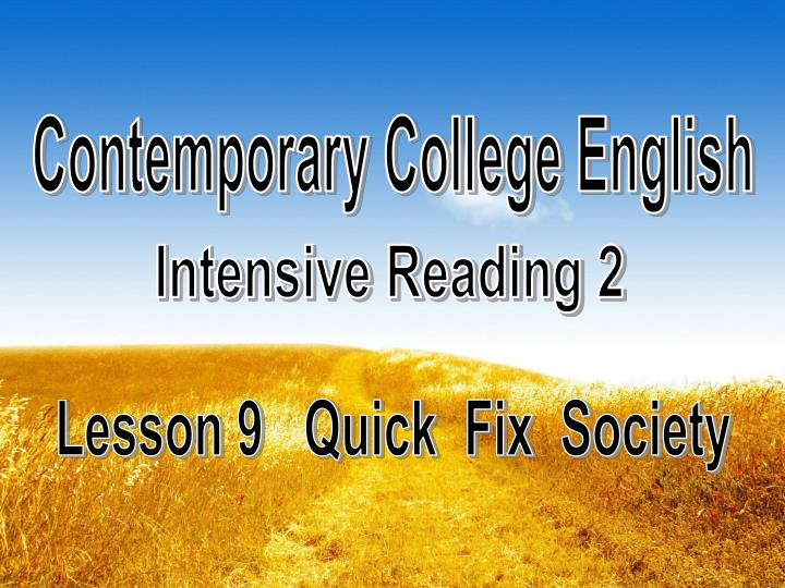Contemporary College English