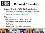 request procedure