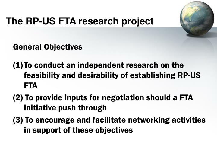 The RP-US FTA research project