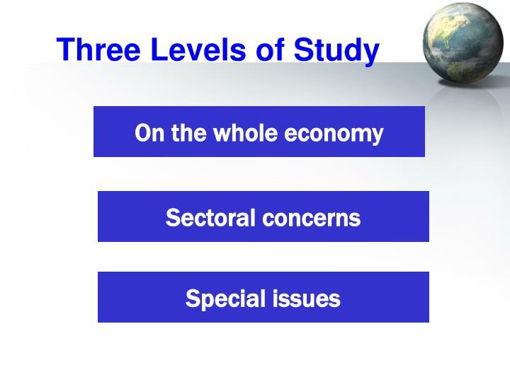 Three Levels of Study
