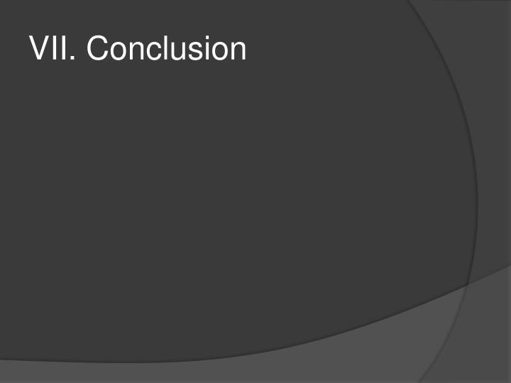 VII. Conclusion