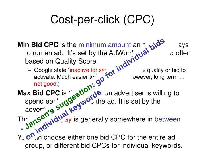 Cost-per-click (CPC)